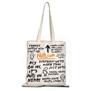 Full Bleed Natural Canvas Convention Tote Bag